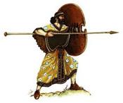 Воин на страже. Иллюстрация